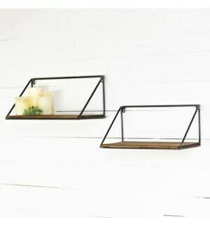 set of 2 Industrial shelf