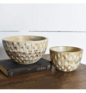Carved accent bowls