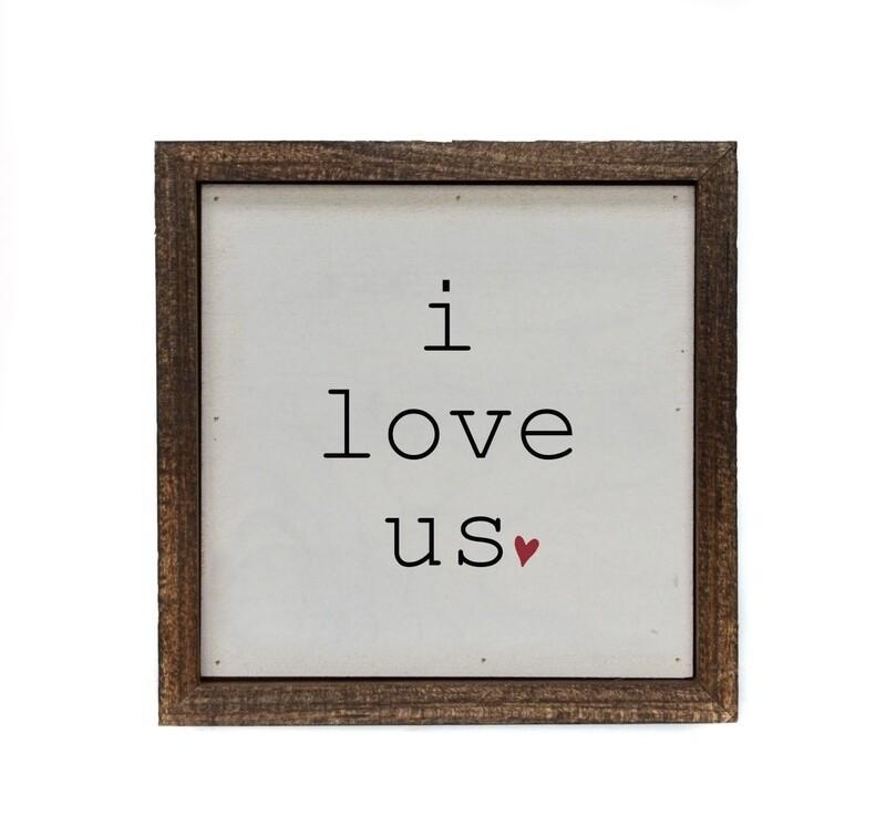 6x6 i love us