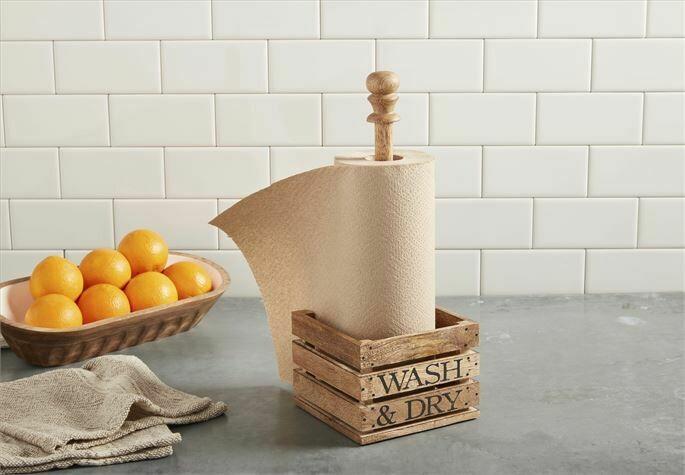 Crate paper towel holder