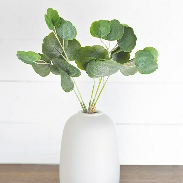 Faux eucalyptus leaf bundle