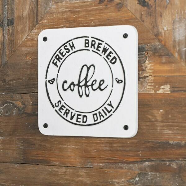 Fresh brewed coffee sign