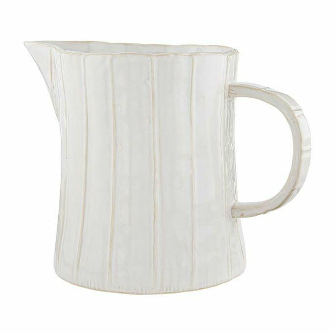 White stone pitcher