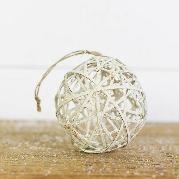 White tin decorative ball