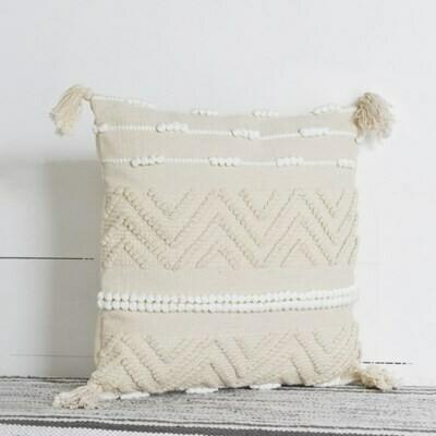 Cream and white pillows