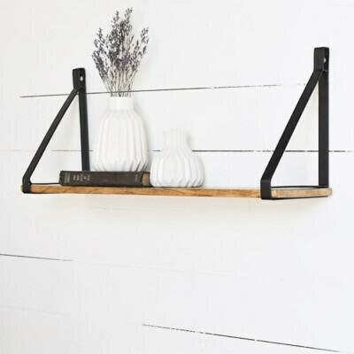"30"" single wood shelf"