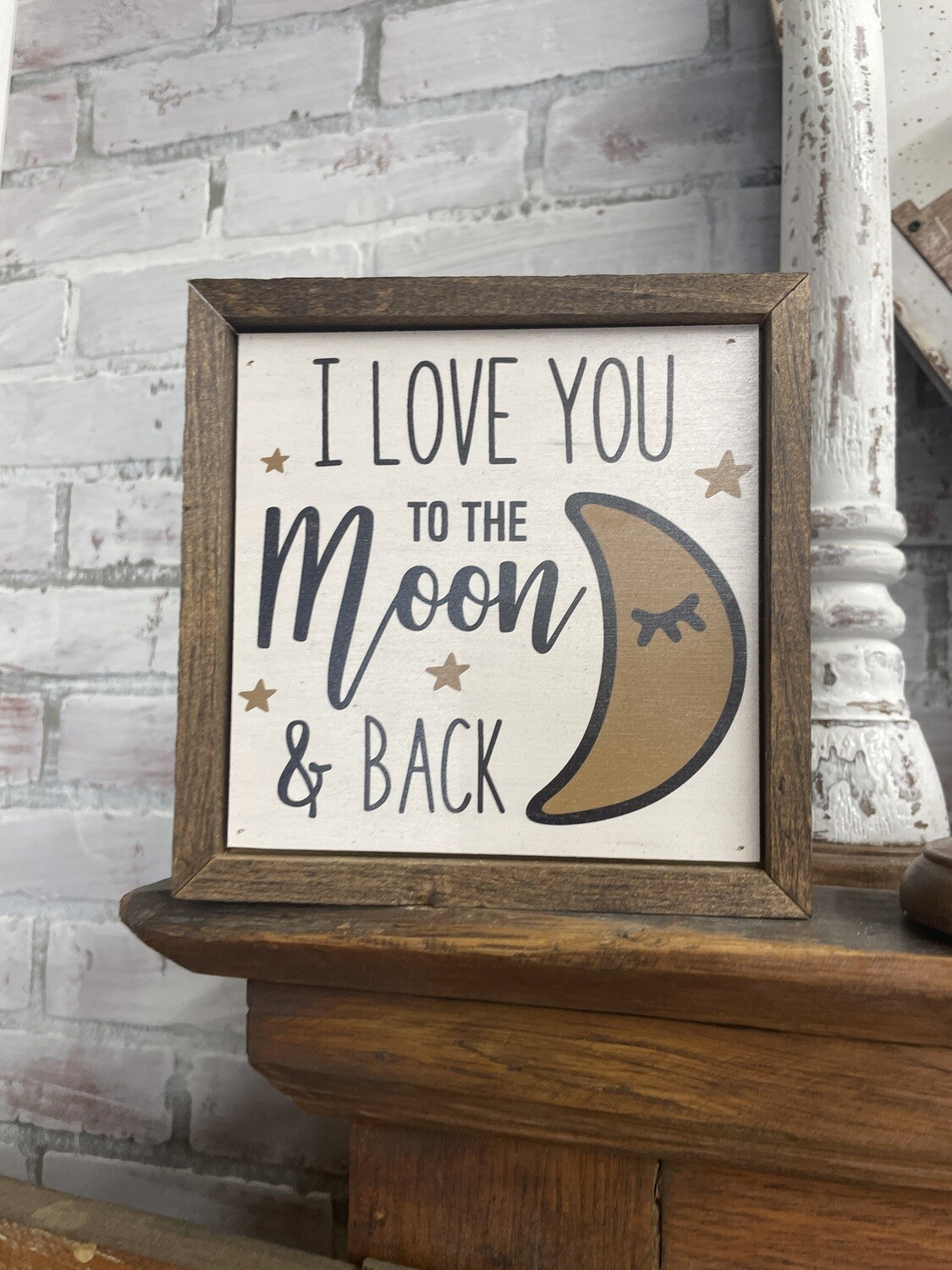 6x6 love you to the moon