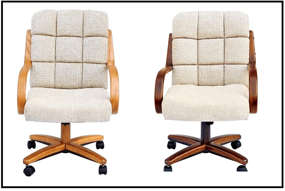 Chromcraft Swivel Tilt Caster Dinette Chairs Cm117