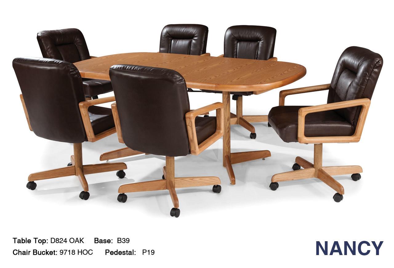 Nancy Caster Dinette Chair Set Chromcraft Tilt Swivel