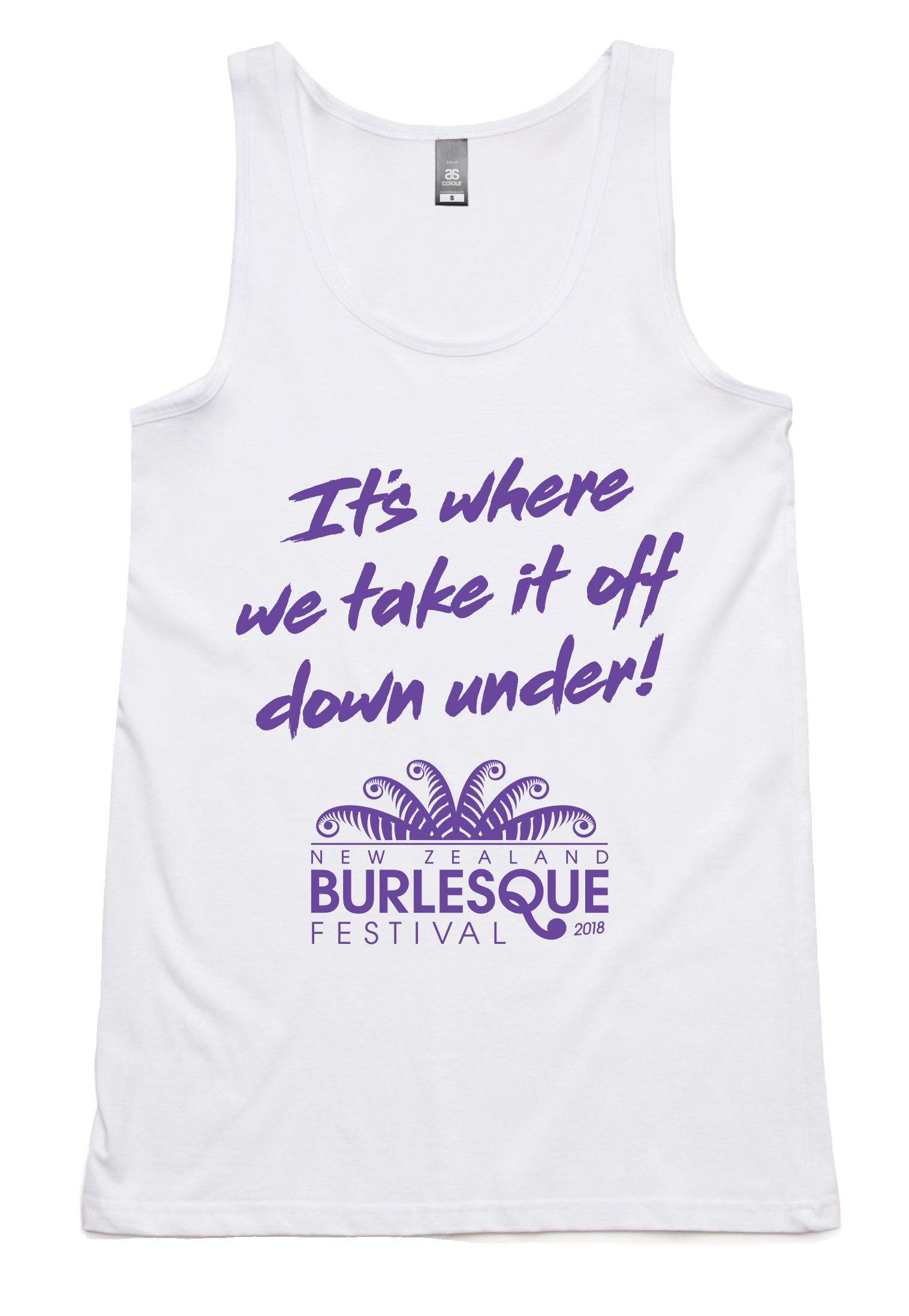 NZBF18 Purple on White Tank - Unisex 00016