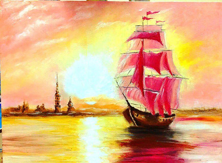 Картинки с кораблями и морем для срисовки, новорожденным девочка открытка