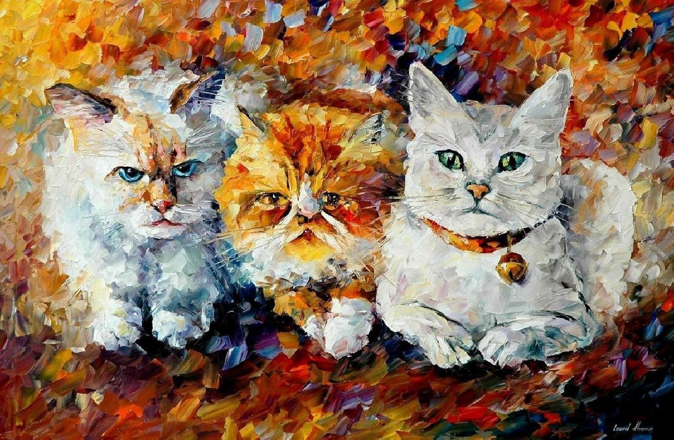 буквы урок рисования акрилом коты мало-помалу увидишь, что