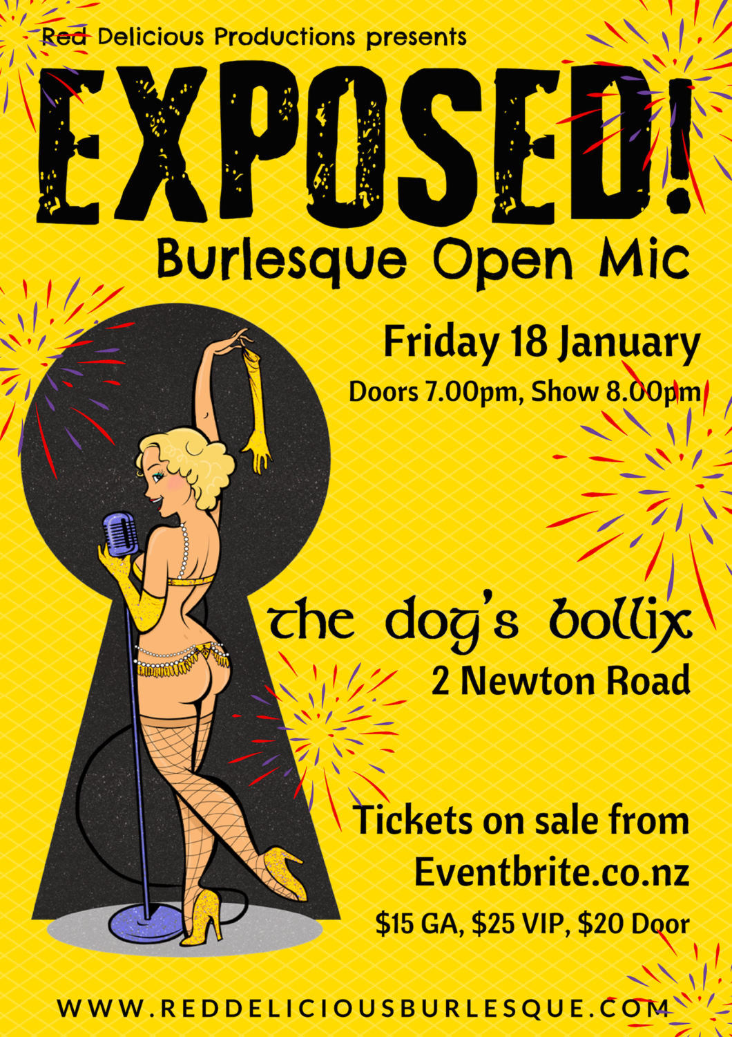 Exposed! Burlesque Open Mic - January