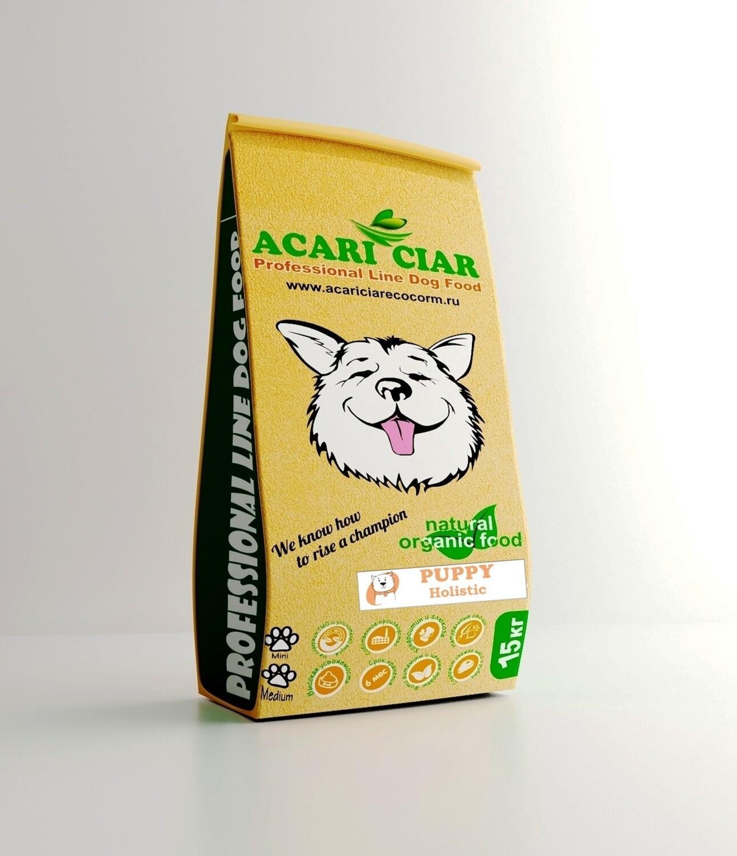 Паппи мини  гранула корм для собак 15 кг