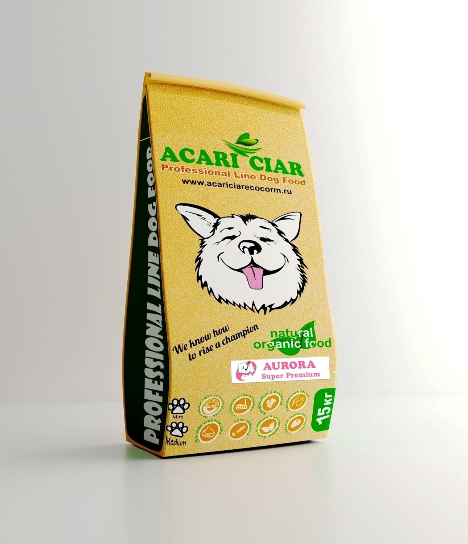 Акари Киар Аврора медиум гранулы корм для собак