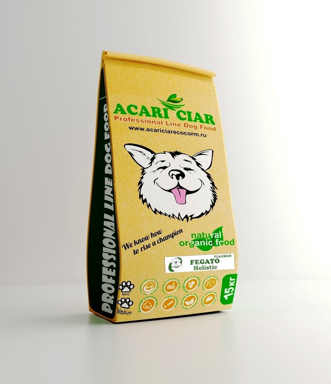 Флагман фегато мини гранула корм для собак 15 кг