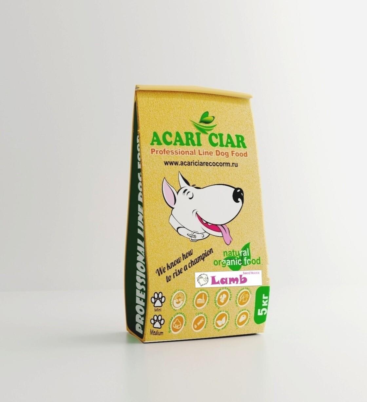 Запеченный корм для собак ягненок мини гранула 5 кг
