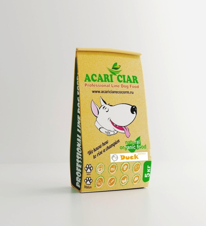 Запеченный корм для собак утка медиум гранула 5 кг