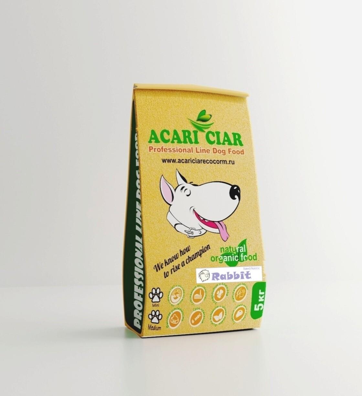 Запеченный корм для собак кролик мини гранула 5 кг