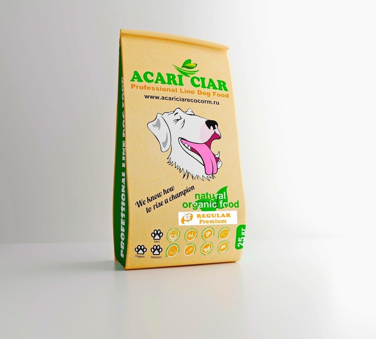 Регуляр медиум гранула корм для собак 25 кг