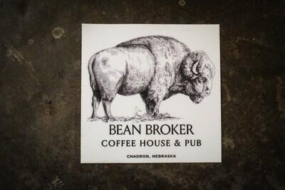 Buffalo Bean Broker Sticker