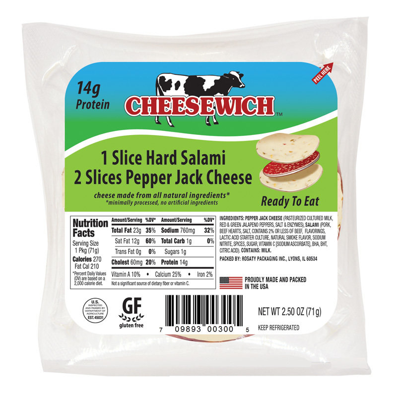 Pepper Jack & Hard Salami Cheesewich (24 Pack) CH6
