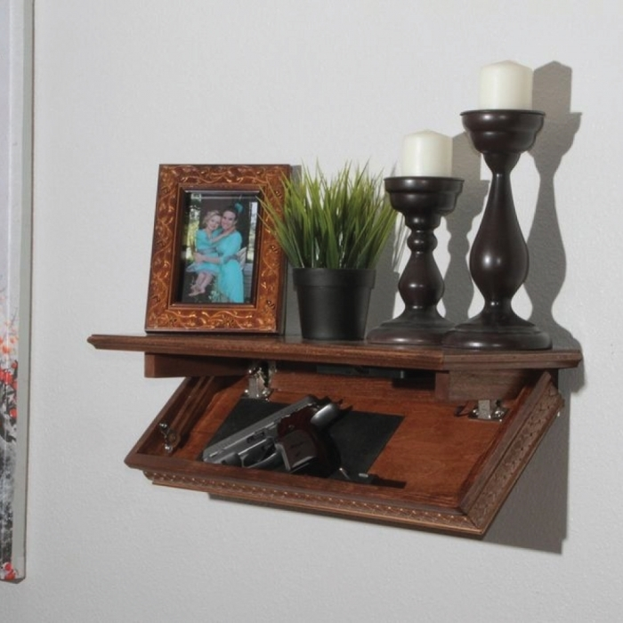 Quick Shelf Safe with RFID- Walnut