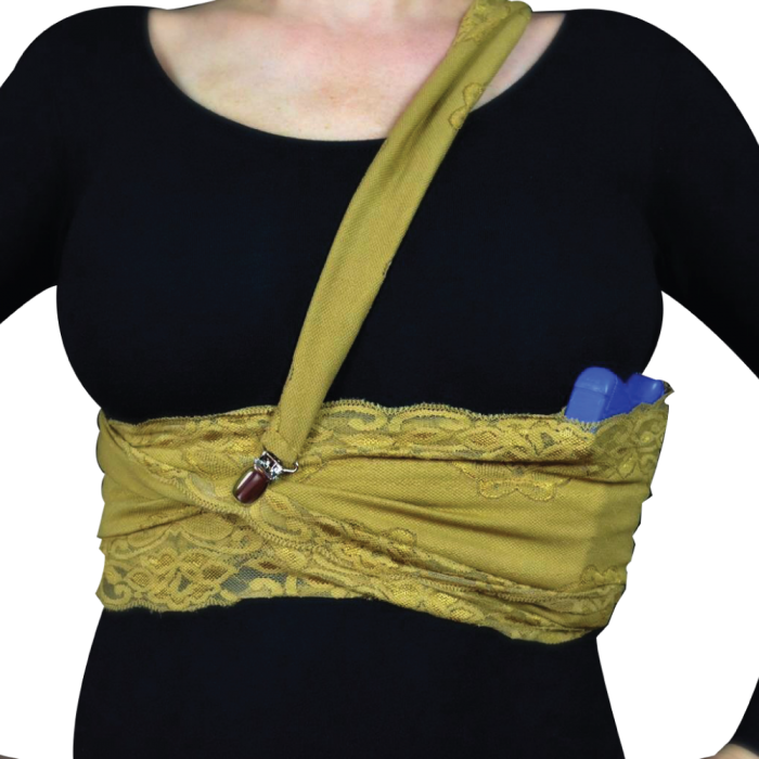 Lethal Lace Concealed Carry Holster for Women - NUDE