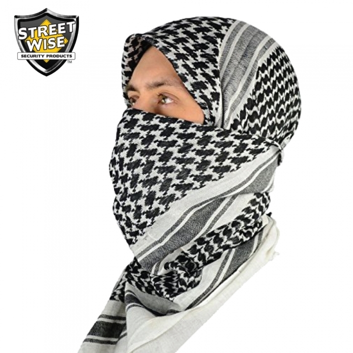 Tactical Shemagh Black/White BCSWTSBWCEP