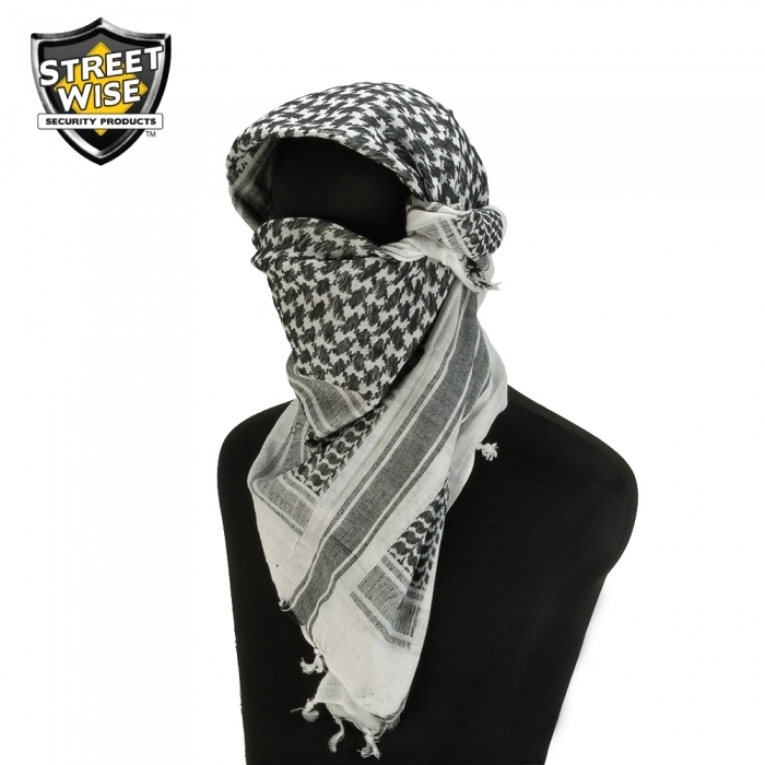Tactical Shemagh Black/White