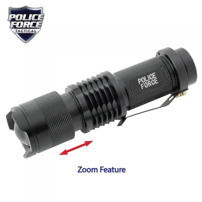 Mini Tactical Cree Flashlight w/ Slide Zoom