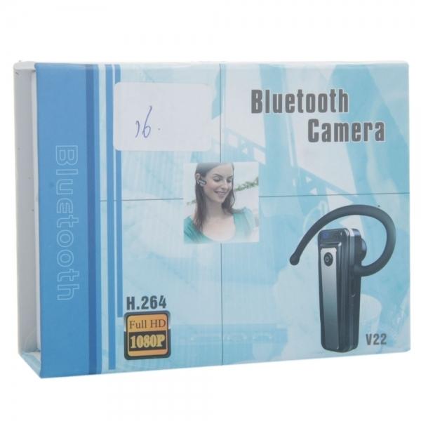 720P H.264 HD Spy Bluetooth Earphone with Hidden Camera Black