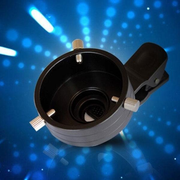 Telescope Adapter Cellphone Lens Monocular Binoculars Mount with Clip Dia 43.5mm Size S