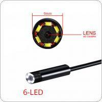 2In1 5M/16.4FT 9mm 6 LEDs Snake Endoscope Waterproof Borescope Micro USB Inspection Video Camera for Android & PC