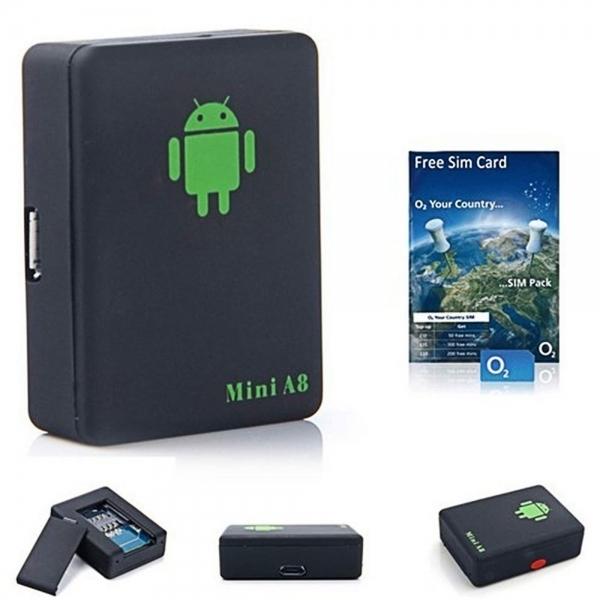 Mini A8 Voice Control Callback GSM GPS Locator Tracking Device BC21006028TM