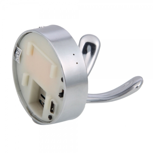 Practical 720P HD Clothes Hook Spy Hidden Camera Silver