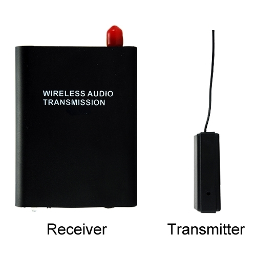 Wireless audio transmission Wireless bug 300M Encrypted Channel