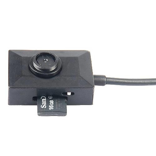 Mini Button Camera with 2 Meters Long Cable Cycle Recording Support 32GB TF Card
