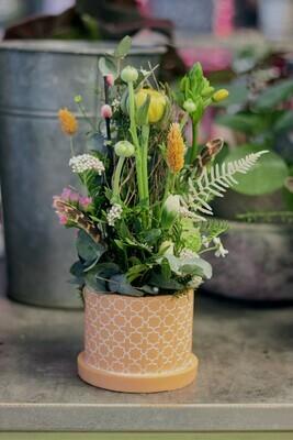 Arrangement de fleurs piquées