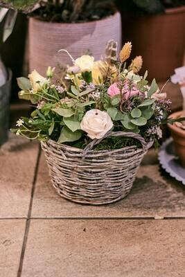 panier de fleurs de saison