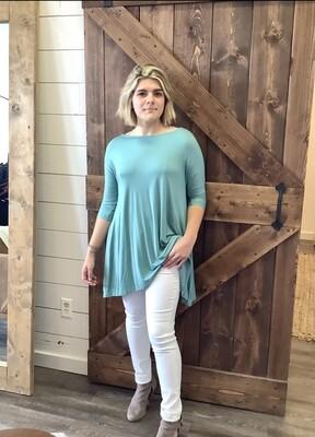 Dusty Mint Marsala Pocket Dress