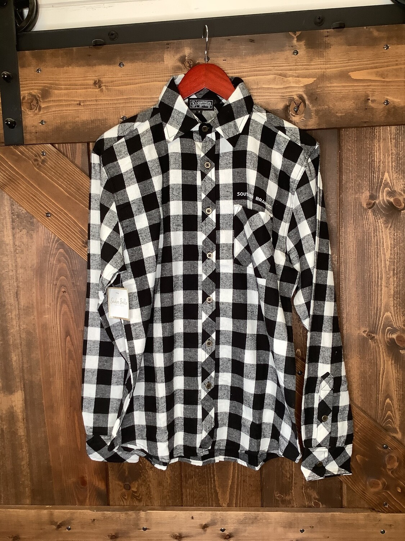 SB Men B/W Checkered Flannel