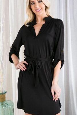 Black 3/4 Sleeve-Dress