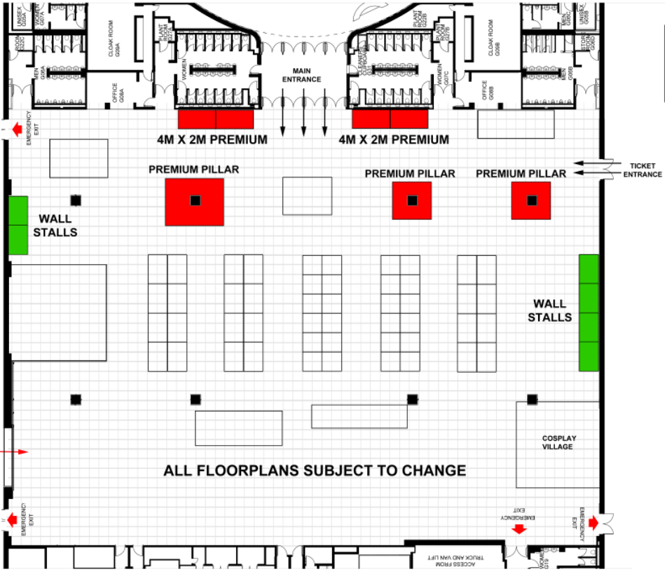 2m x 2m aisle stall  dcc august