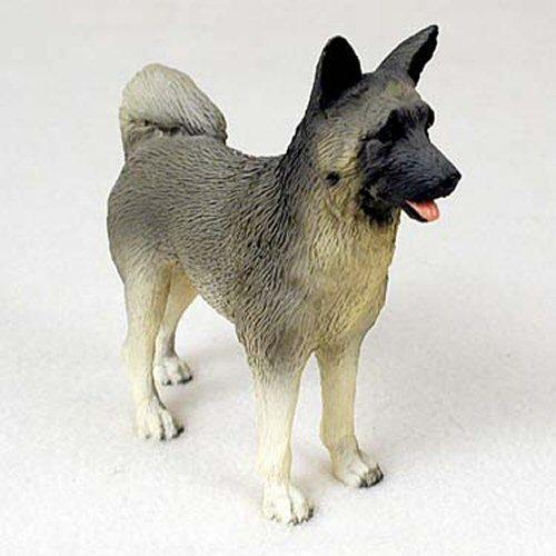 Akita Gray Dog Standard Figurine