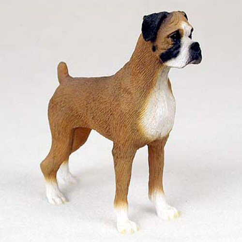 Boxer Brown Uncropped Dog Standard Figurine