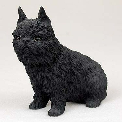 Brussels Griffon Black Dog Standard Figurine