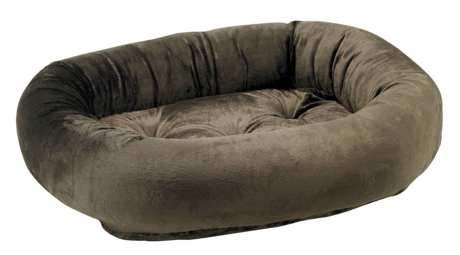 Donut Pet Bed Brown Teddy