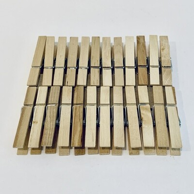 24-Pack Wood Clothespins