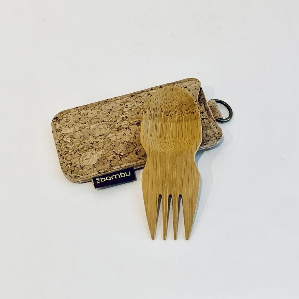 Bamboo Spork and Cork